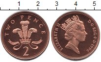 Изображение Монеты Великобритания 2 пенса 1996 Бронза UNC