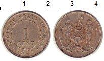 Изображение Монеты Борнео 1 цент 1941 Медно-никель XF