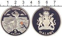Изображение Монеты Малави 5 квач 2006 Серебро Proof