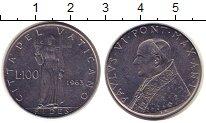 Изображение Монеты Ватикан 100 лир 1963 Сталь UNC-