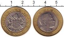 Изображение Монеты Ватикан 1000 лир 1997 Биметалл UNC-