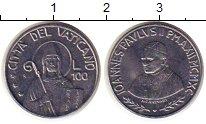 Изображение Монеты Ватикан 100 лир 1990 Сталь UNC-
