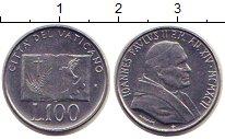 Изображение Монеты Ватикан 100 лир 1992 Сталь UNC-