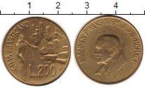 Изображение Монеты Ватикан 200 лир 1991 Латунь UNC-