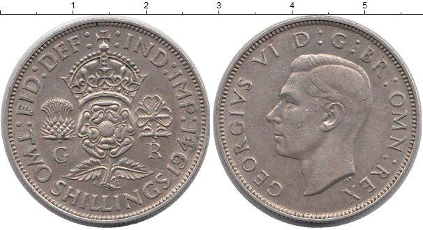 Картинка Монеты Великобритания 2 шиллинга Серебро 1941