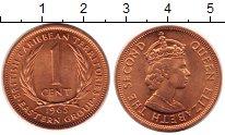 Изображение Мелочь Карибы 1 цент 1965 Бронза UNC-
