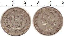 Изображение Монеты Доминиканская республика 25 сентаво 1961 Серебро VF