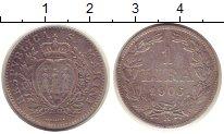 Изображение Монеты Сан-Марино 1 лира 1906 Серебро