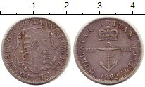 Изображение Монеты Великобритания 1/8 доллара 1822 Серебро XF-