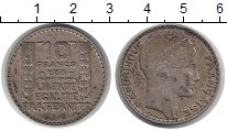 Изображение Монеты Франция 10 франков 1933 Серебро XF Свобода.  Равенство.