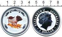 Изображение Монеты Австралия 1 доллар 2007 Серебро Proof Елизавета II.  Цветн