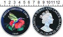 Изображение Монеты Теркc и Кайкос 25 крон 1995 Серебро Proof