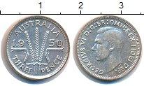 Изображение Монеты Австралия 3 пенса 1950 Серебро XF