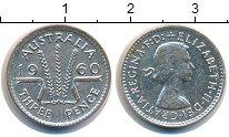 Изображение Монеты Австралия 3 пенса 1960 Серебро XF