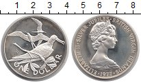 Изображение Монеты Виргинские острова 1 доллар 1977 Серебро Proof- Елизавета II