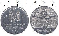 Монета ФРГ 10 марок Серебро 1998 UNC
