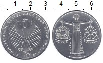 Изображение Монеты ФРГ 10 марок 2000 Серебро UNC