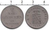 Изображение Монеты Саксония 2 гроша 1854 Серебро VF Фридрих Август II
