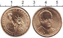 Изображение Мелочь США 1 доллар 2014 Медь UNC P. 32-й президент. Ф