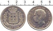 Изображение Монеты Португалия 500 рейс 1886 Серебро XF