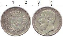 Изображение Монеты Бельгийское Конго 1 франк 1887 Серебро XF- Леопольд I