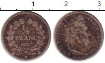 Изображение Монеты Франция 1/4 франка 1839 Серебро VF