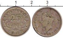 Изображение Монеты Сейшелы 25 центов 1943 Серебро VF
