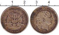 Изображение Монеты Гаити 20 сантимов 1882 Серебро XF-