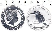 Изображение Монеты Австралия 1 доллар 2007 Серебро Proof- Елизавета II. Кукабу