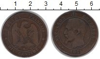 Изображение Монеты Франция 10 сантим 1854 Бронза VF