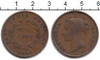 Изображение Монеты Стрейтс-Сеттльмент 1 цент 1845 Медь XF