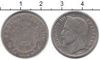Изображение Монеты Франция 1 франк 1866 Серебро VF Наполеон III.
