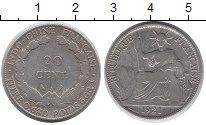 Изображение Монеты Индокитай 20 центов 1921 Серебро VF