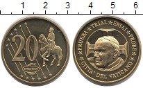 Изображение Монеты Ватикан 20 евроцентов 2002 Латунь UNC