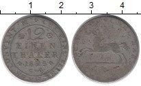 Изображение Монеты Брауншвайг-Вольфенбюттель 1/12 талера 1825 Серебро VF Карл II