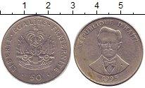 Изображение Дешевые монеты Гаити 50 сентим 1995 Сталь покрытая никелем XF- Портрет Шарлемана Пе