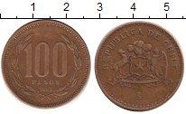 Изображение Дешевые монеты Чили 100 песо 1992 Медь VF