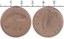 Изображение Барахолка Ирландия 10 пенсов 1975 Медно-никель XF-