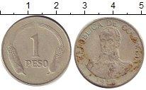 Изображение Дешевые монеты Колумбия 1 песо 1970 Медно-никель VG