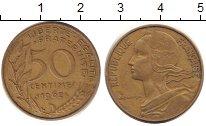 Изображение Барахолка Франция 50 сантимов 1962 Латунь-сталь VG