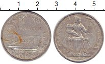 Изображение Барахолка Полинезия 2 франка 1980 Алюминий VF-