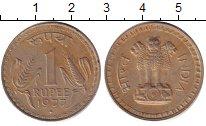 Изображение Дешевые монеты Индия 1 рупия 1977 Медно-никель XF-