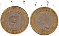 Изображение Дешевые монеты Венесуэла 1 боливар 2007 Биметалл VF