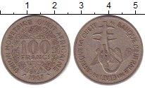 Изображение Барахолка Африканский союз 100 франков 1967 Медно-никель XF