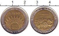 Изображение Дешевые монеты Аргентина 1 песо 2010 Биметалл XF