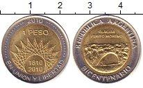 Изображение Барахолка Аргентина 1 песо 2010 Биметалл XF
