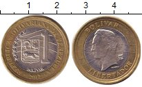 Изображение Дешевые монеты Венесуэла 1 боливар 2012 Биметалл VF