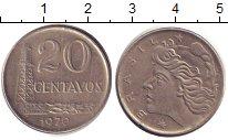 Изображение Дешевые монеты Бразилия 20 сентаво 1970 Медно-никель XF-