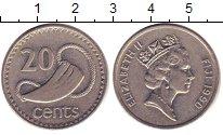 Изображение Барахолка Фиджи 20 центов 1990 Медно-никель XF-