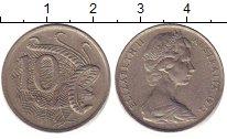 Изображение Дешевые монеты Австралия 10 центов 1972 Медно-никель XF